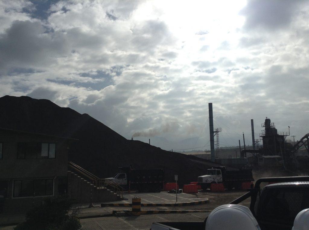 Valoración de riesgos de contaminación del aire en construcción de plataforma petrolera